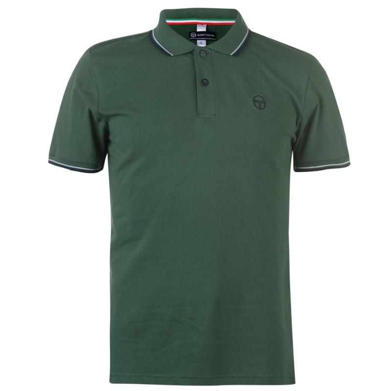 Sergio Tacchini Zuck Polo Shirt Mens Green
