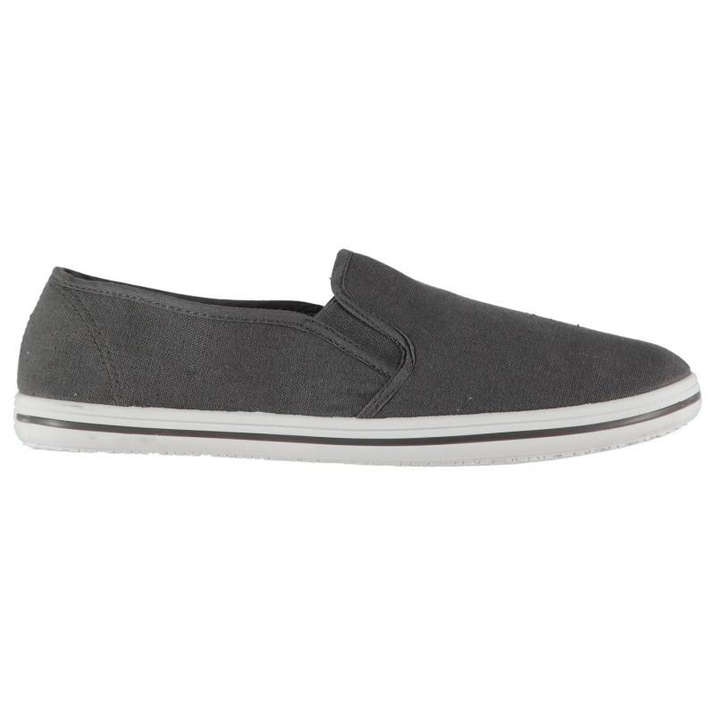 Boty Slazenger Mens Slip On Canvas Shoes White