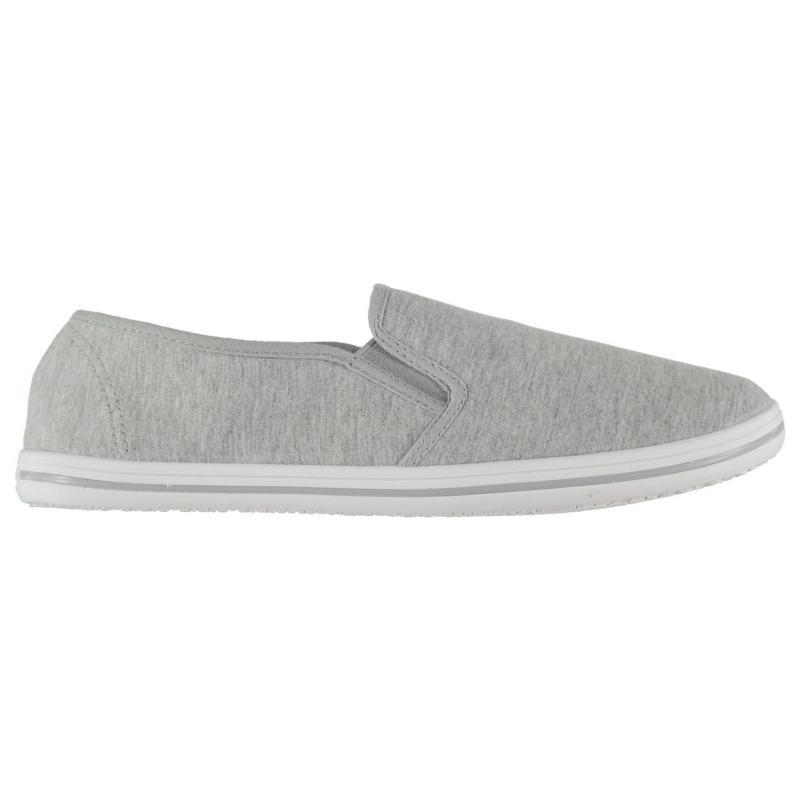 Slazenger Mens Slip On Canvas Shoes White