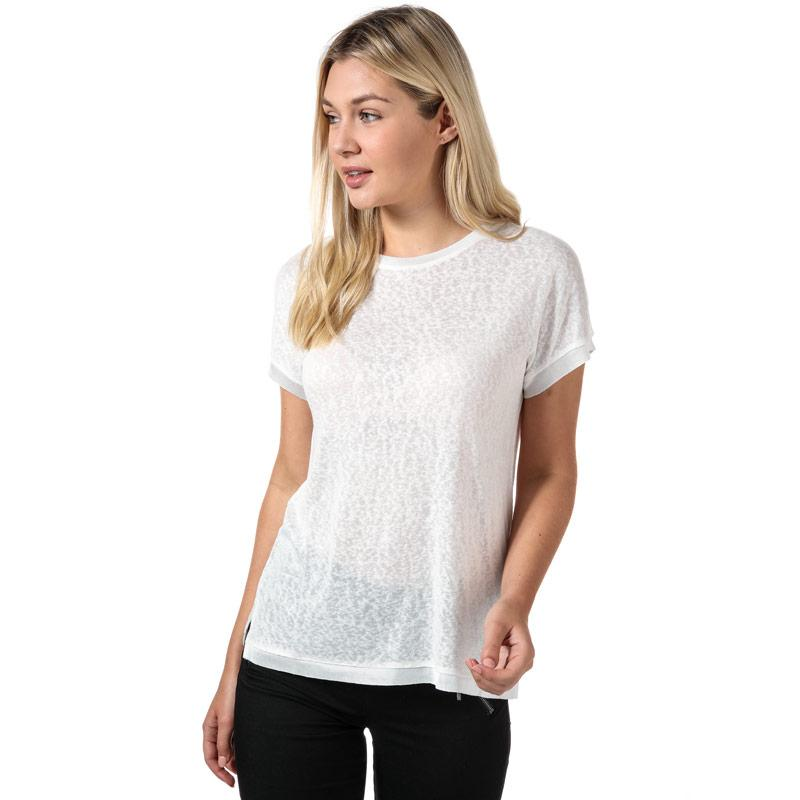Only Womens Riley Jersey T-Shirt White