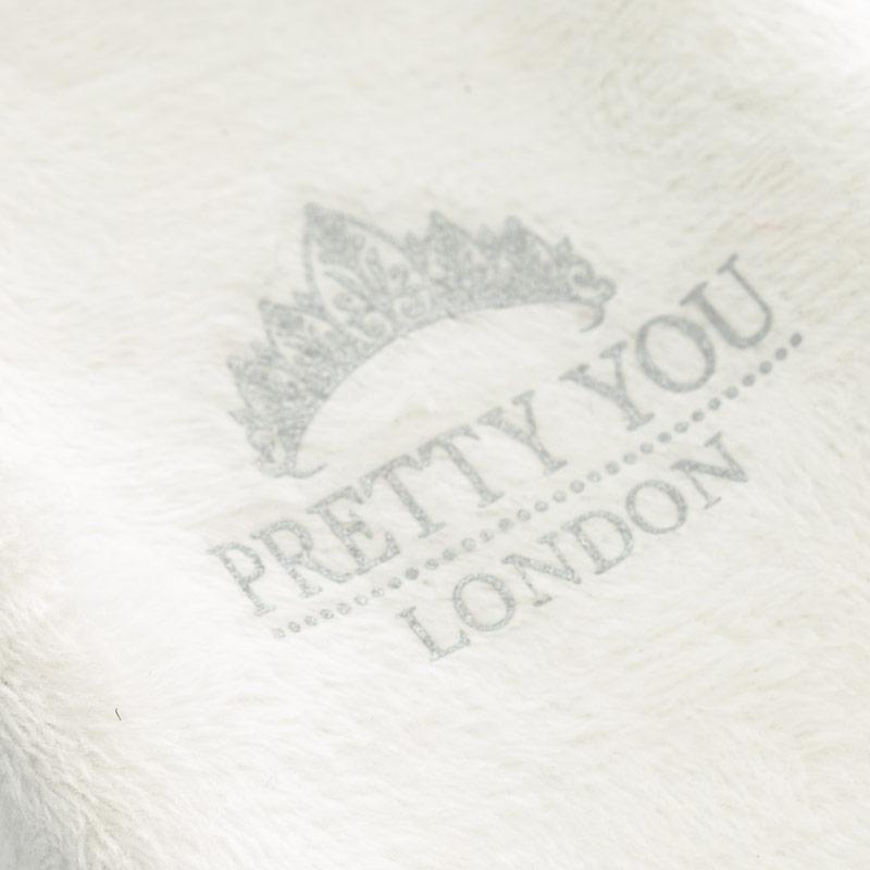 Pretty You Womens Tate Faux Fur Cross Band Slippers White