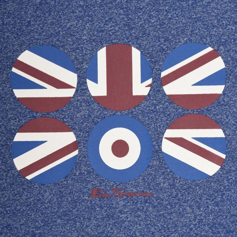 Tričko Ben Sherman Circle Flag T Shirt Stargazer Marl