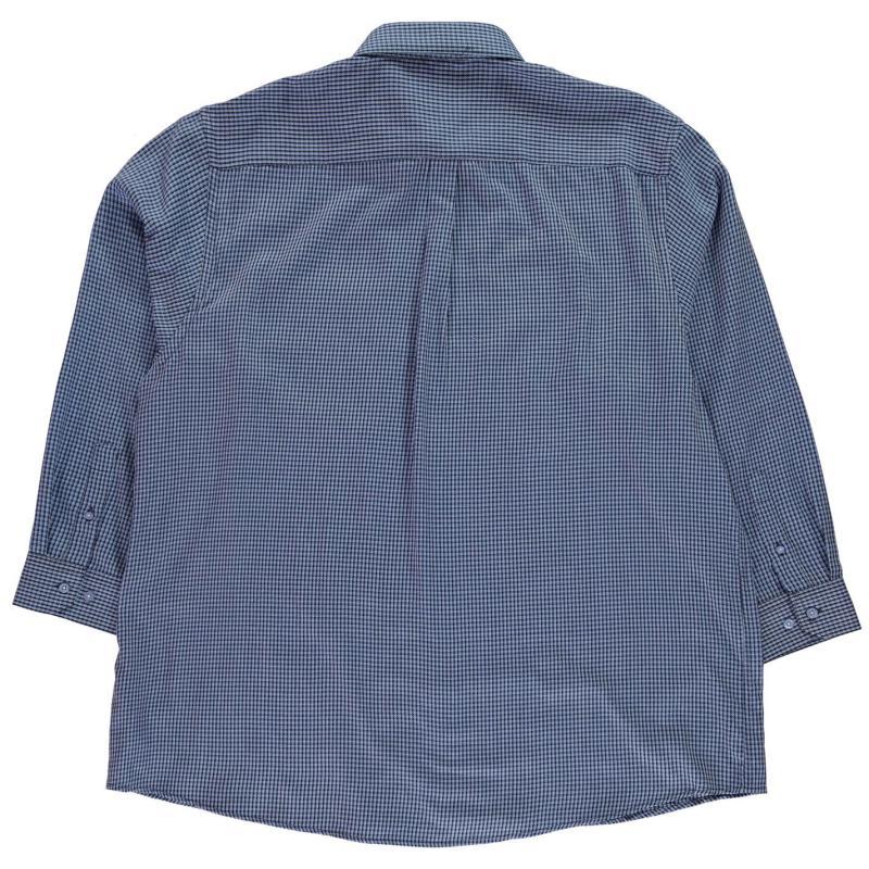 Fusion Dogtooth Check Shirt Mens Blue