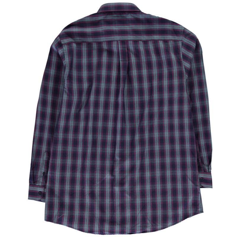 Fusion Fusion Plaid Check Shirt Mens Purple/Teal