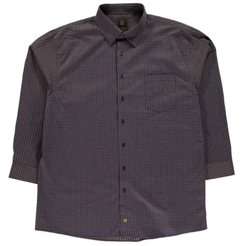 Fusion Geo Shirt Mens Brown