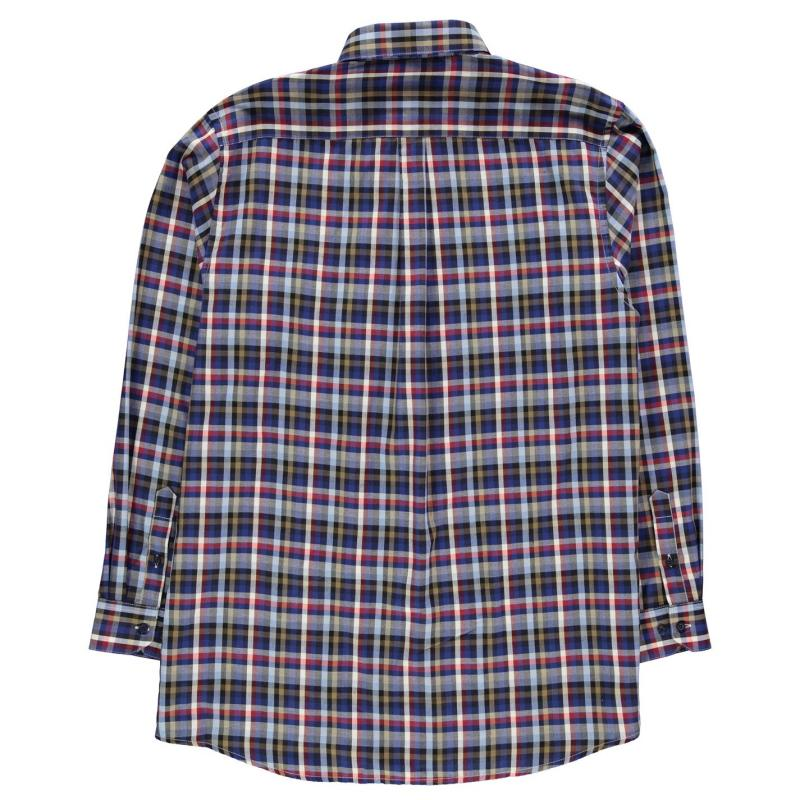 Fusion Multi Check Shirt Mens Blue