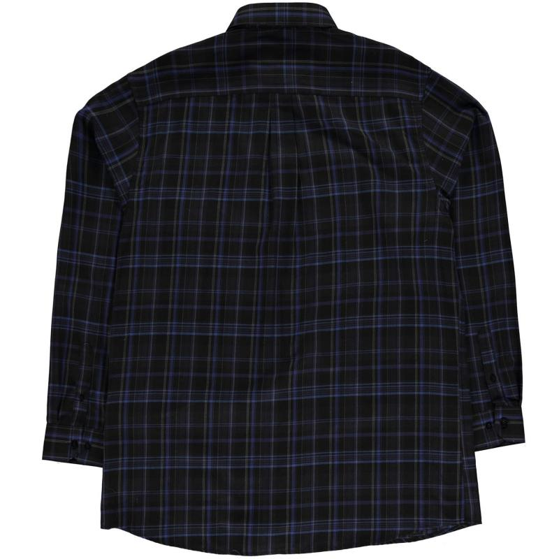 Fusion Plaid Casual Shirt Mens Black