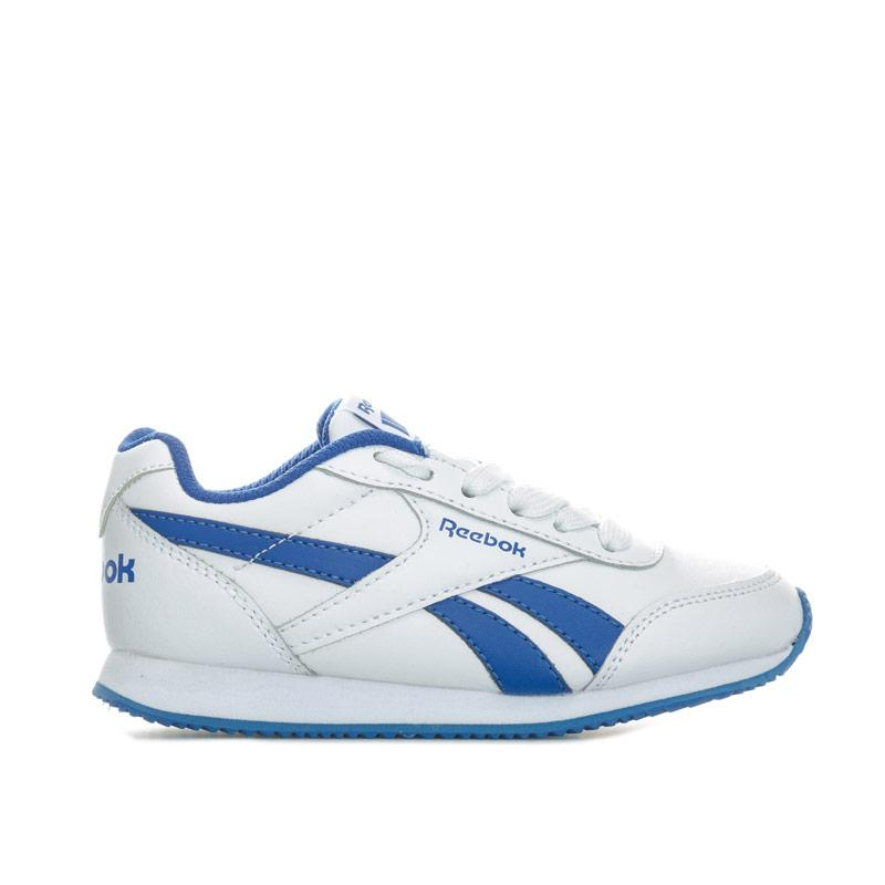 Boty Reebok Classics Junior Boys Royal CL Jog Trainers White