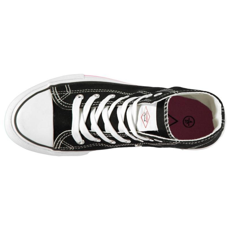 Obuv Lee Cooper Canvas Hi Top Shoes Ladies Black/Pink