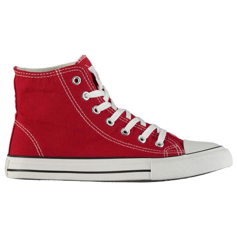 Obuv Lee Cooper Canvas Hi Top Shoes Ladies Red