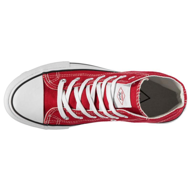 Lee Cooper Canvas Hi Top Shoes Mens Black/Blk