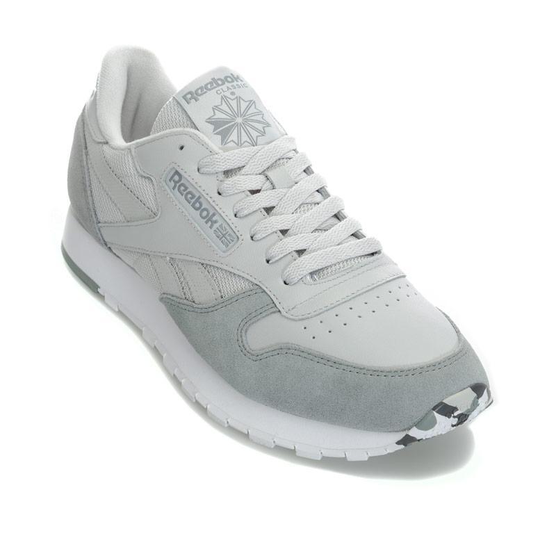 Reebok Classics Mens Classic Leather Multi Trainers Grey