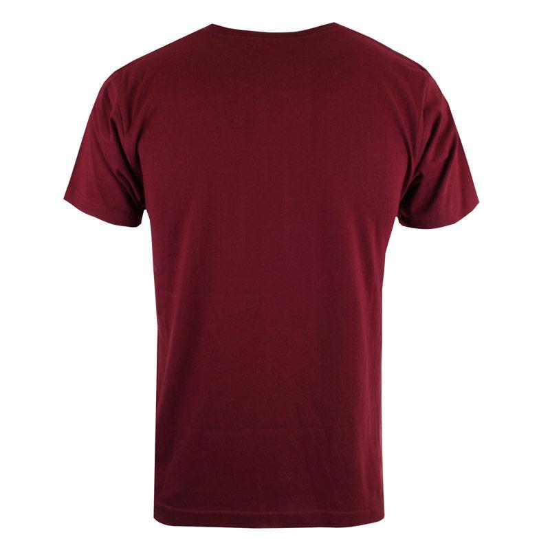 Tričko Forth & Lewis Mens Emblem T-Shirt Burgundy