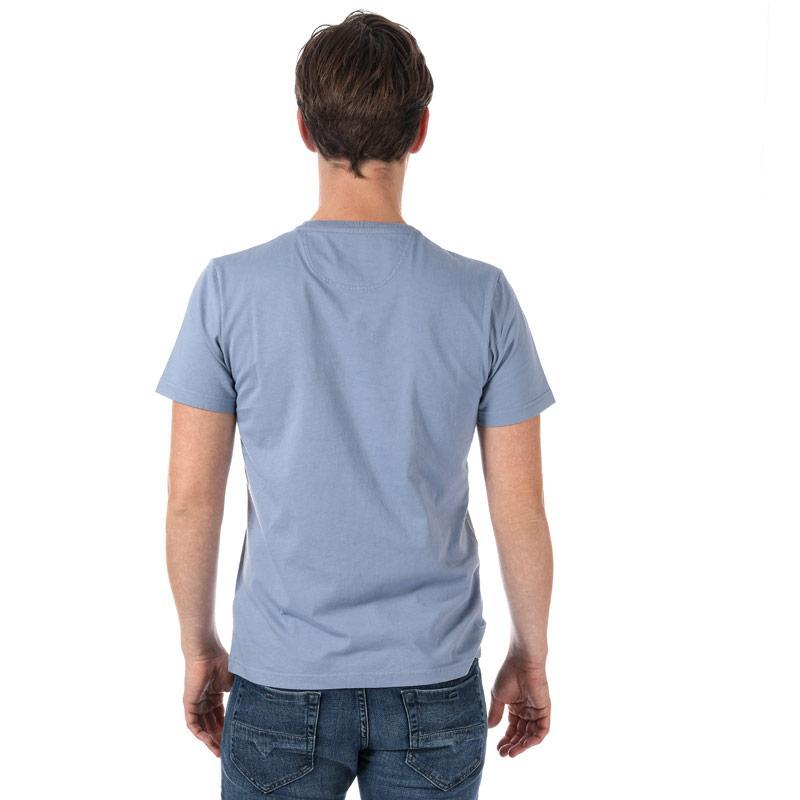 Tričko Henri Lloyd Mens Hurst Printed T-Shirt Light Blue
