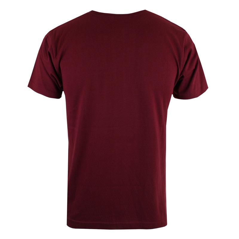 Tričko Forth & Lewis Mens Poly T-Shirt Burgundy