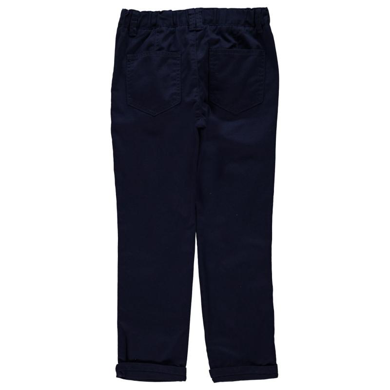 Kalhoty Crafted Essentials Chino Trousers Child Boys Navy