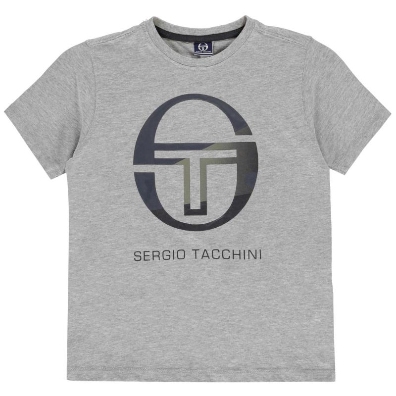 Tričko Sergio Tacchini Elbow T Shirt Junior Boys Grey/Blue