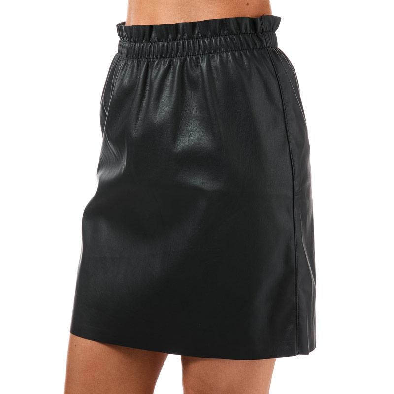 Sukně Vero Moda Womens Riley Ruffle Skirt Black