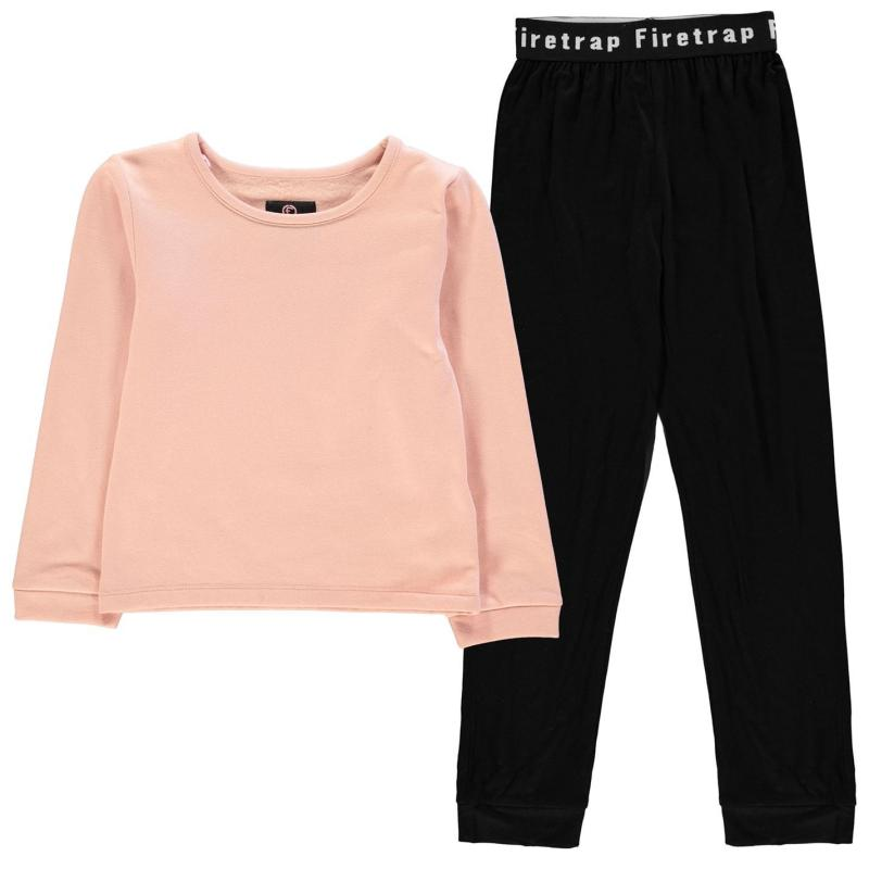 Firetrap Pyjama Set Junior Girls Black/Blush