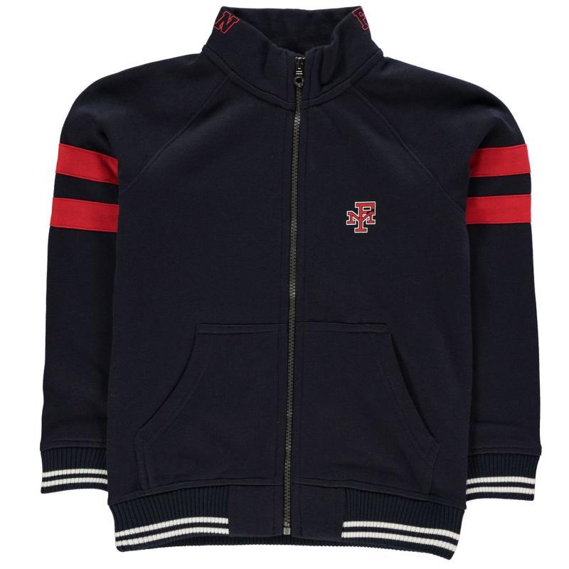 Mikina Franklin and Marshall Fun Zip Sweatshirt Navy Blazer