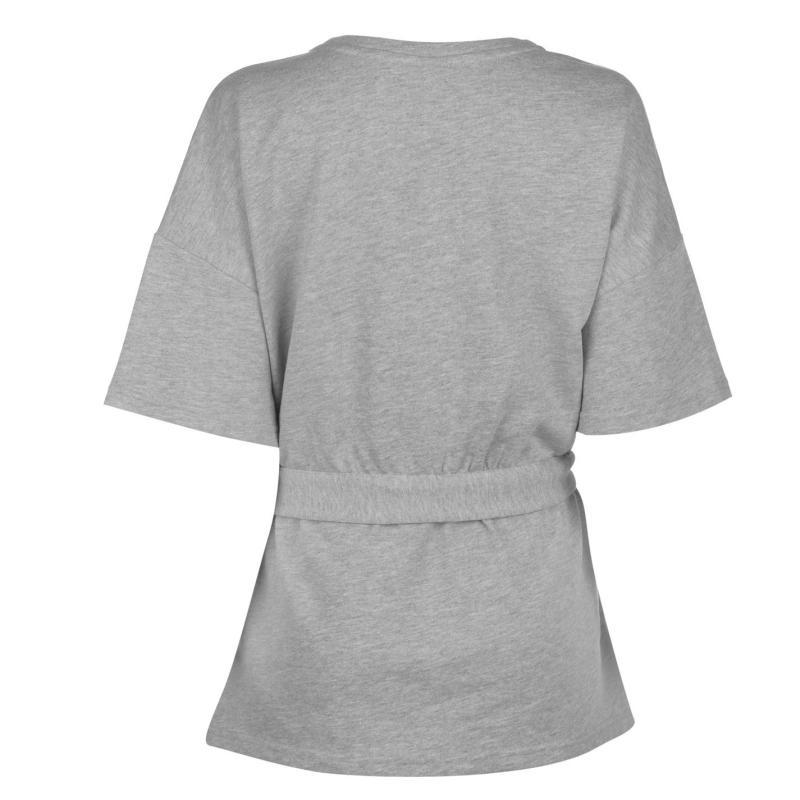 Mikina JDY Frida Tie Sweatshirt Lgt Gry Mel