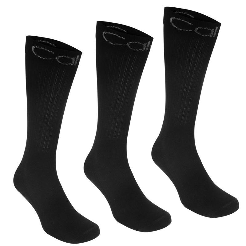 Ponožky Calvin Klein 3 Pack Sport Crew Socks Black