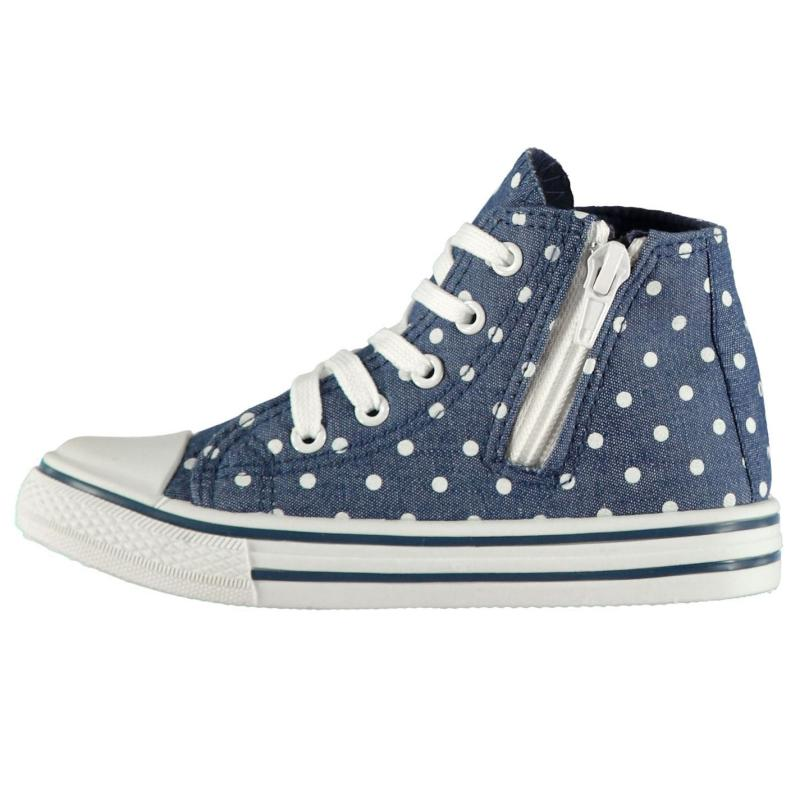 Crafted Childrens Hi Tops Floral Print