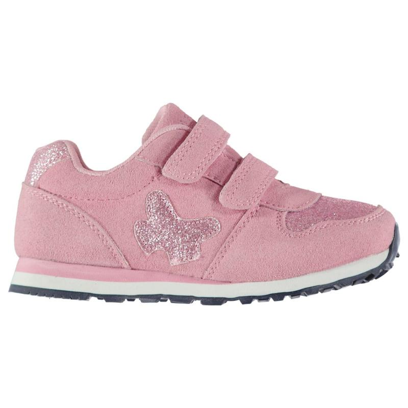 Crafted Infant Girls Butterfly Trainers Pink
