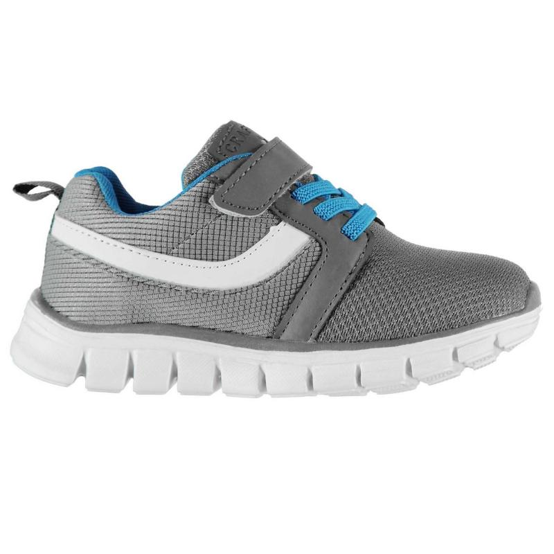 Crafted Laced Infants Trainers Grey Blue