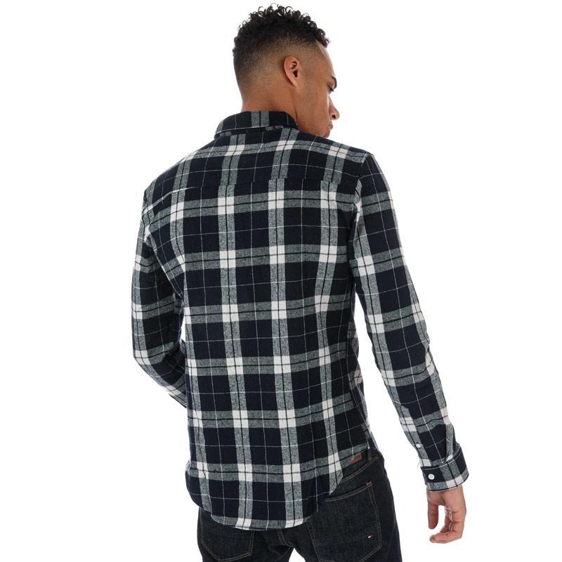 Crosshatch Black Label Mens Hilmas Checked Shirt Navy
