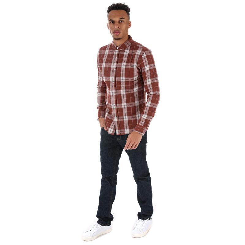 Crosshatch Black Label Mens Hilmas Checked Shirt Red