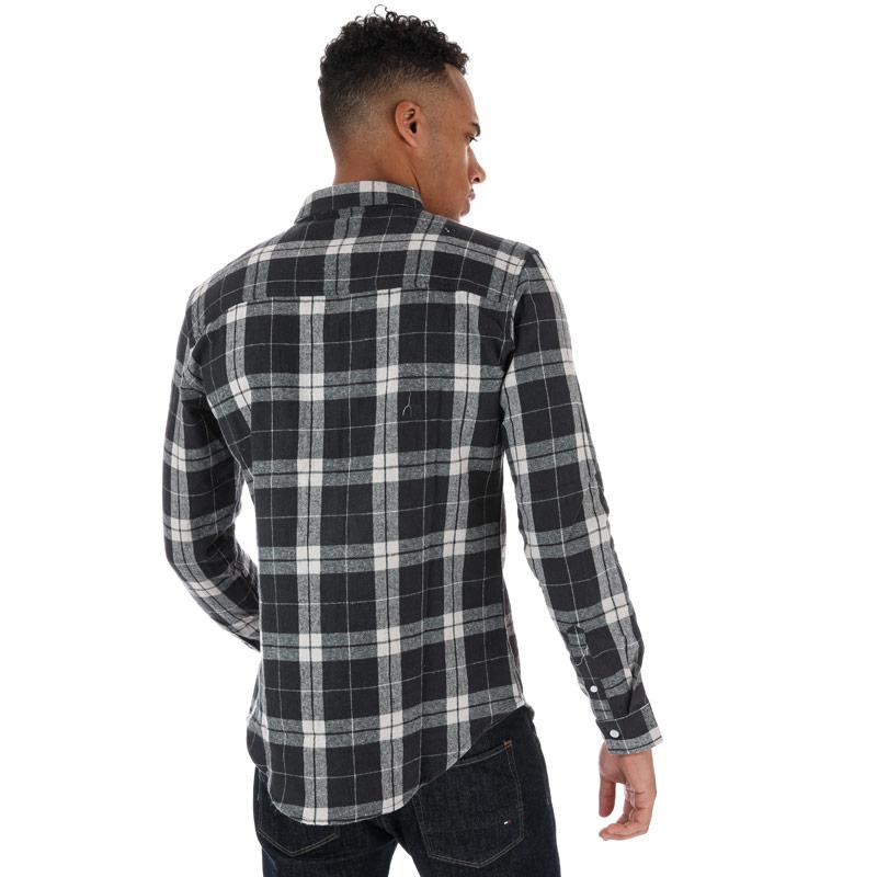 Crosshatch Black Label Mens Hilmas Checked Shirt Red