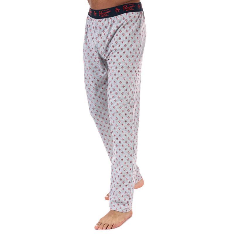 Pyžamo Original Penguin Mens Lounge Logo Pants Navy Grey