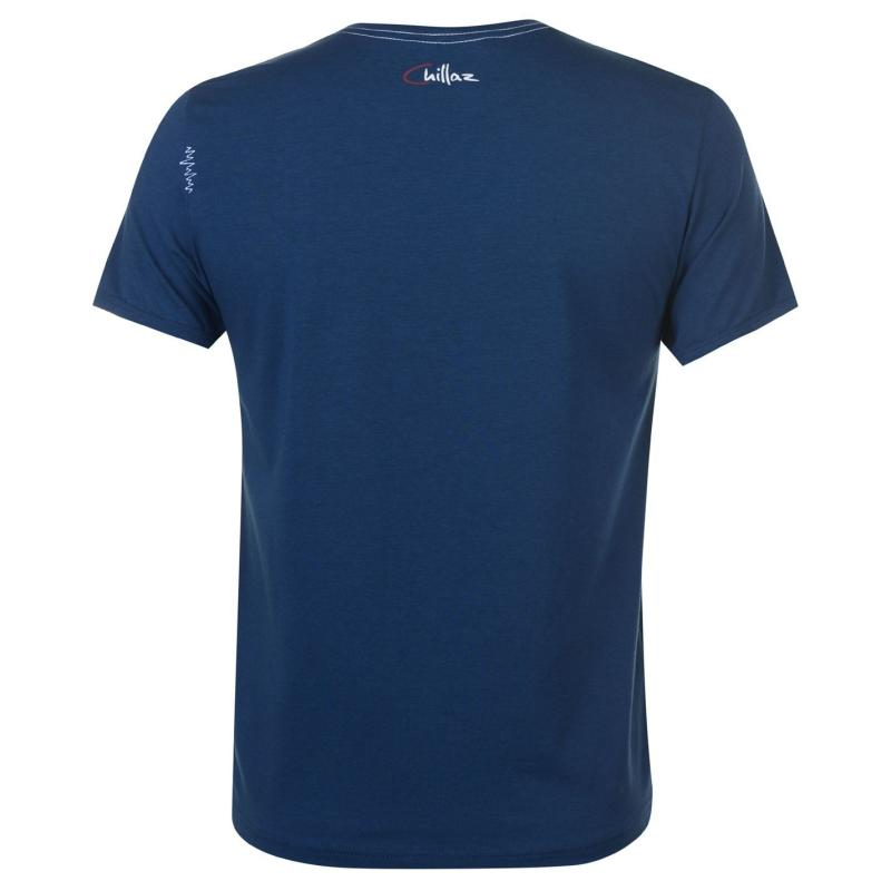 Tričko Chillaz Respect T Shirt Mens Blue