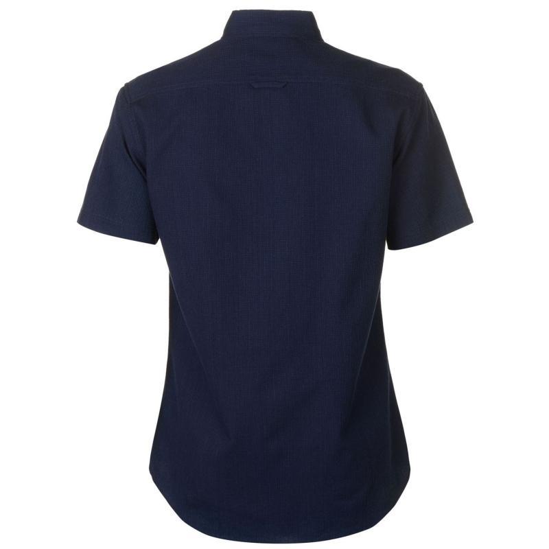 Firetrap Short Sleeve Denim Shirt Mens Navy