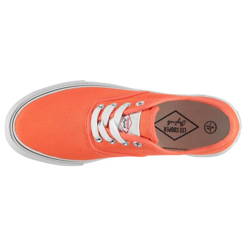 Lee Cooper Canvas Val Shoes Ladies Coral