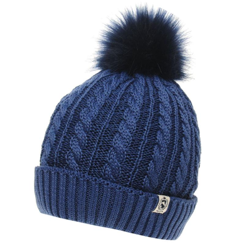 Requisite Junior Bobble Hat Blue