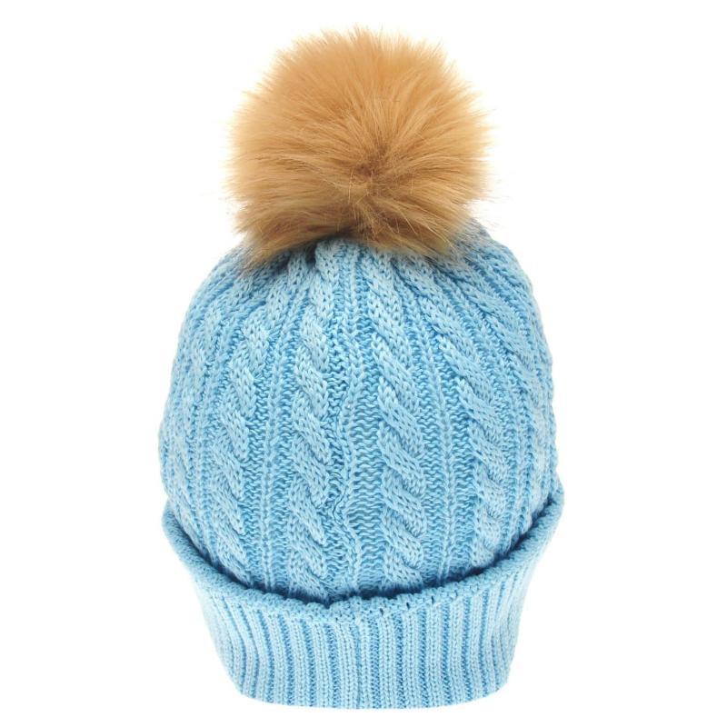Requisite Ladies Bobble Hat Teal
