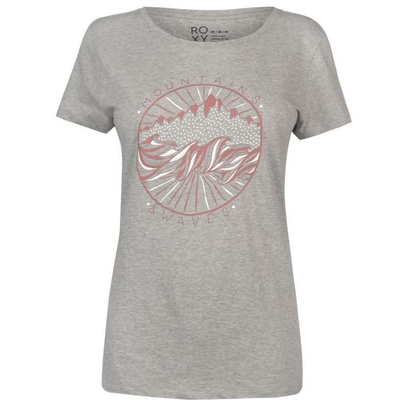 Tričko Roxy Snow Water T Shirt Ladies Heather Grey