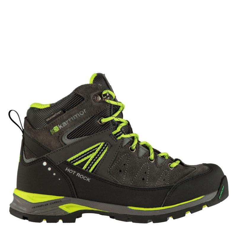 Karrimor Hot Rock Junior Walking Boots Charcoal/Green