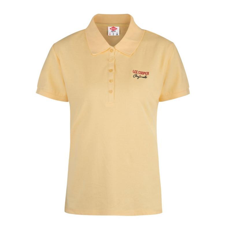 Polokošile Lee Cooper Plain Polo Shirt Ladies Yellow