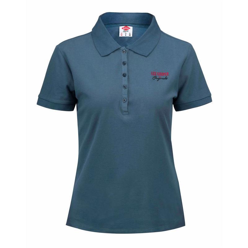Polokošile Lee Cooper Plain Polo Shirt Ladies Navy