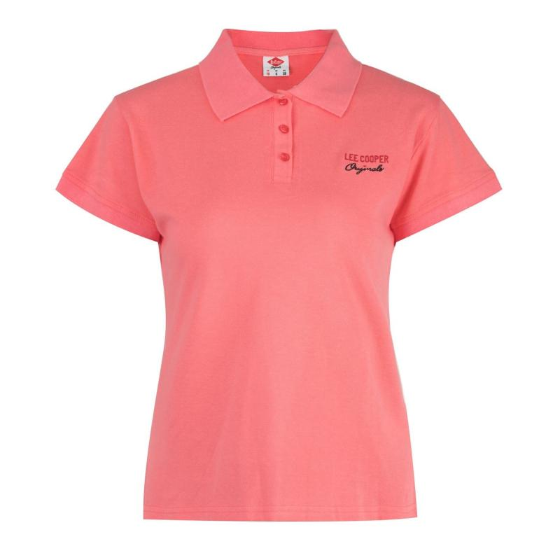 Polokošile Lee Cooper Regular Polo Shirt Ladies Coral