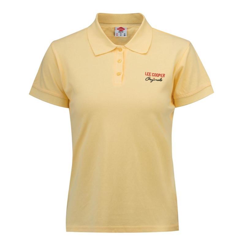 Polokošile Lee Cooper Regular Polo Shirt Ladies Yellow