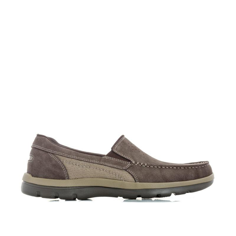 Boty Rockport Mens Gyk Gore Slip On Nubuck Shoe Chocolate