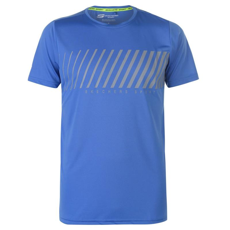 Tričko Skechers Graphic T Shirt Mens Blue