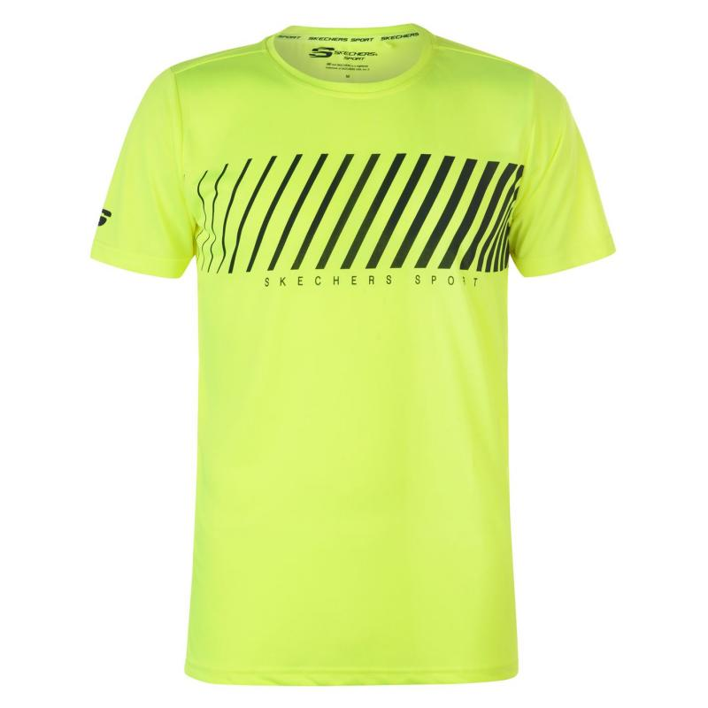 Tričko Skechers Graphic T Shirt Mens Lime