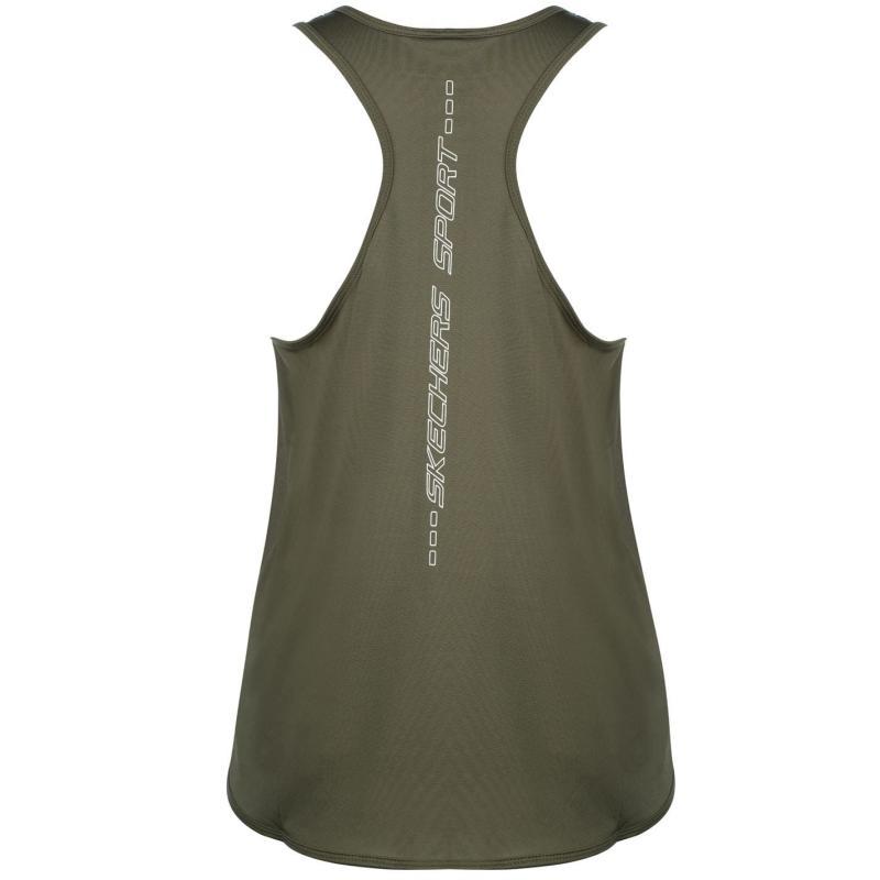 Skechers Loose Vest Ladies Khaki