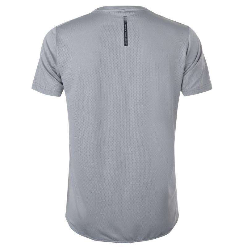 Tričko Skechers Mesh Back T Shirt Mens Grey