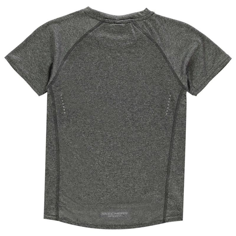 Tričko Skechers Poly T Shirt Junior Boys Black